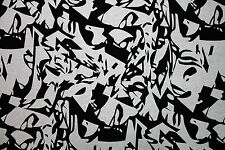 100% Cotton Abstract Print Sports Jersey Dress Fabric Material