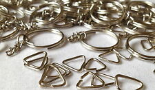 SPLIT RING KEYRING Steel with CHAIN and RING   MPC 0061  50 Pieces