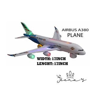 A380 Airplane Toy Self-driving Bump & Go Airbus - 3D Light and Jet Engine.