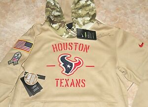 $100 NEW NIKE Houston Texans SALUTE TO SERVICE Hoody Mens M L XL AT6732-297 STS