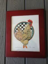 Blue Plate Special Rooster 8x10 Wood Frame #450 Limited Edition Print