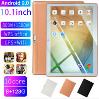 "10.1"" inch 4G-LTE/WiFi Tablet HD 8+128G Android 9.0 Dual Camera 10 Core Phablet"