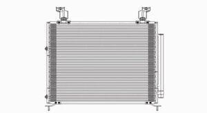 A/C Condenser  TYC  3182