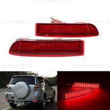 Pair LED Rear Bumper Reflector Brake Light For RAV4 Previa Alphard Avensis Scion