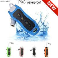 Sport Waterproof 8GB/16GB Swimming Diving Underwater MP3 Music Player Earphone R