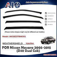 AD WEATHERSHIELD WINDOW VISOR FOR NISSAN Navara D40 dual cap 2005-2014