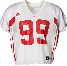 2010 Jj Watt Practice Worn Wisconsin Badgers Jersey with Repairs Coa