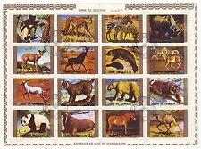 UMM AL QIWAIN 1973 Kleinbogen Tiere Goldrand (12505)