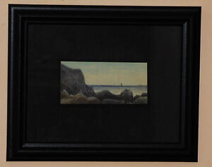 WILLIAM WILSON COWELL COASTAL SEASCAPE WATERCOLOR PAINTING LISTED  ARTIST