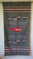 """Vintage Chimayo Roadrunner Wool Blanket 35"""" X 72"""""""