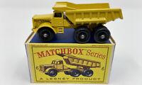 Matchbox No. 6 Euclid Quarry Truck in Original 'Type D' Box