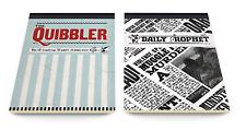 Harry Potter Hogwarts Quibbler Daily Prophet Jotter Set Notebook Pad Gift