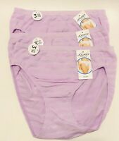 NWT 3 Jockey Matte & Shine Hi Cut Panties 1306 Purple Cotton Plum Size 7