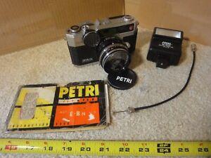 Vintage Petri EBN 35mm film camera made in Japan, Copal-SV lens. Works!