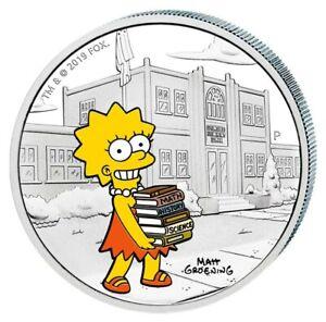 Pièce D'Argent Tuvalu, Die Simpsons™, Lisa Simpson™ , 1 Once, 2019 Pp