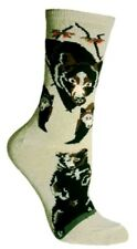 WILD BLACK BEARS IN THE FOREST! Stone Socks~Great Gift! New Spring Sale Price!