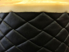 Vinyl Leather Faux vinyl Black Quilted auto headliner headboard fabric 3 yards
