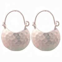 BEAUTIFUL THAI EARRINGS HAMMERED PURE SILVER