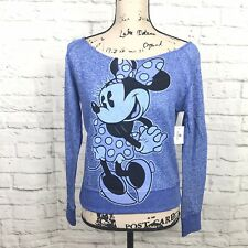 f53058ae560 Disney Parks Minnie Mouse Sweatshirt Women Size Small S Heather Blue  Pullover