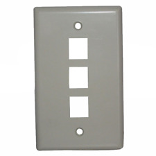 Ideal 89-743WH 3 Port Keystone Faceplate - White, 5/Pack