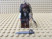 Captain Jack Sparrow Lego Minifigure Keyring UK SELLER