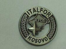 MINI DISTINTIVO IN METALLO MISSIONE DI PACE ITALFOR KOSOVO SPILLA PICCOLA KFOR