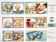 Elizabeth's Studio ~ My Baby's Day ~ 100% Cotton Fabric Book Panel