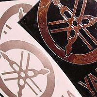 Yamaha GOLD MIRROR Tuning Fork 3.5in wide decal sticker