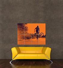 Poster impression photo omposition Sport Vélo BMX biker Stunt projections d'eau seb349