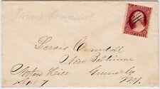 "#26A-3 Cents 1857, 49L11e, ms. ""Norton Hill Sept 7"" (1857) to New Baltimore, NY"