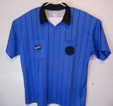 6b3070313 Official Sports Soccer Referee Jersey Men s Size XL Blue Striped Short  Sleeve