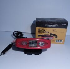RoadShock Defroster Heater With Light 60525 12 Volt Auto Red Black