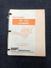 Original Massey Ferguson Mf 750 Combine Parts Book