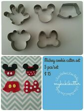 MICKEY CUTTER SET NEW 5 Pc Metal Cutter ! $3 POSTAGE  (Recomended)