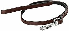 Designer Nobby Dog Lead Brown real lamb leather 100 x1.8 cm Quality  half RRP !