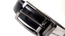 Authentic Giorgio Armani Reversible Leather Belt...smoke...new style...GA9968