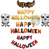 Happy Halloween foil balloons  Letter Dare Party Hanging Baloons Red and Black