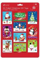** 50 CHRISTMAS FOILED CUTE GIFT TAGS VARIOUS DESIGNS NEW * PRESENT WRAPPING