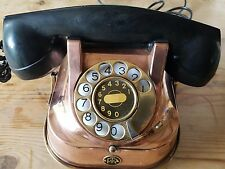 Reduced antique Copper bell telephone fttr badged from belgium.. it works!