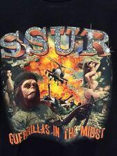 SSUR x Pen & Pixel Men's T-Shirt Guerrillas in the Midst Black Small Streetwear