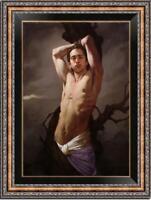 "Hand painted Original Oil Painting art Portrait male nude boy on Canvas 24""x36"""