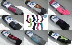 Ladies Mens Winter Warm Wool Blend Hydrovent Ski Long Socks  2 x Pairs Size 4-11