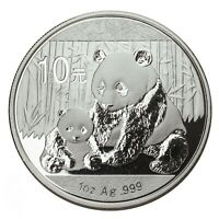 2012 China 1 oz .999 Silver Panda 10 Yuan  Brilliant Uncirculated Coin in caps.