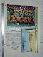 CLIPPING POSTER FOOTBALL 1979-1980 FC NANTES FCN CANARIS MARCEL-SAUPIN