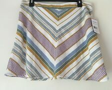 Free People Yours Truly Chevron Mini Skirt. Size 12.