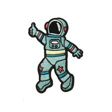 Thumbs Up Astronaut In Space (Iron On) Embroidery Applique Patch Sew Iron Badge