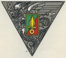 Insigne Légion , 2 REP.  , (  patch plastifié 140x125  )