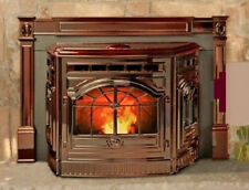 FIREPLACE INSERT VINTAGE CAST IRON CORN PELLET STOVE, 35,000 Btu/hr