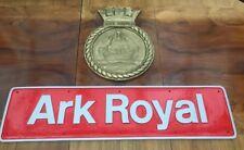 British Rail Class 50 (50035) Ark Royal HMS 1981 Name Plate & Crest Replica