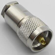 PL259 Plug RG8X Mini8 LMR240 Male Cable Clamp Compression Mini-8 RG8-x UHF